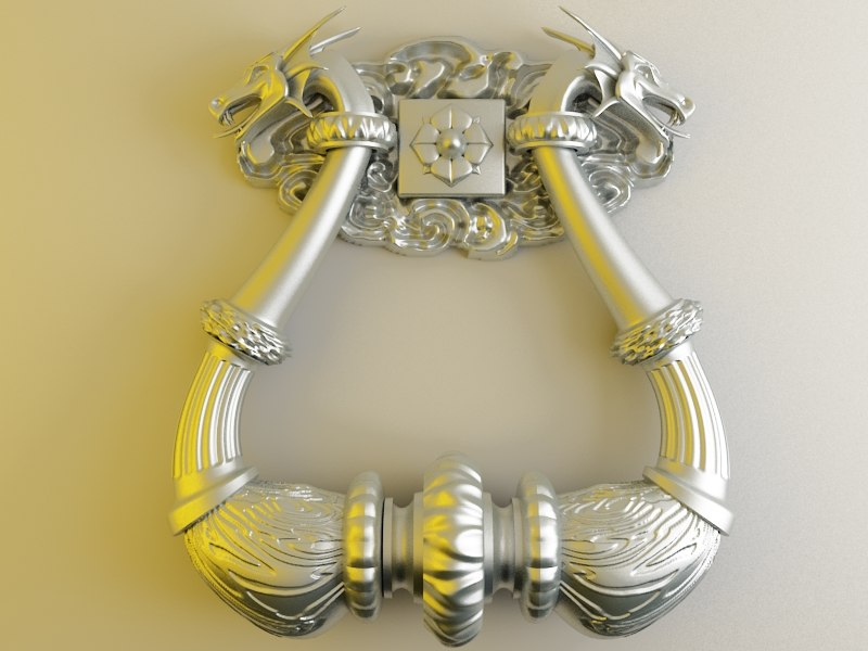 3d model of door knocker