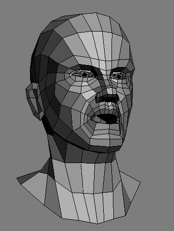 3d model head topology