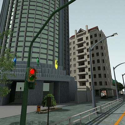 3d definition city block