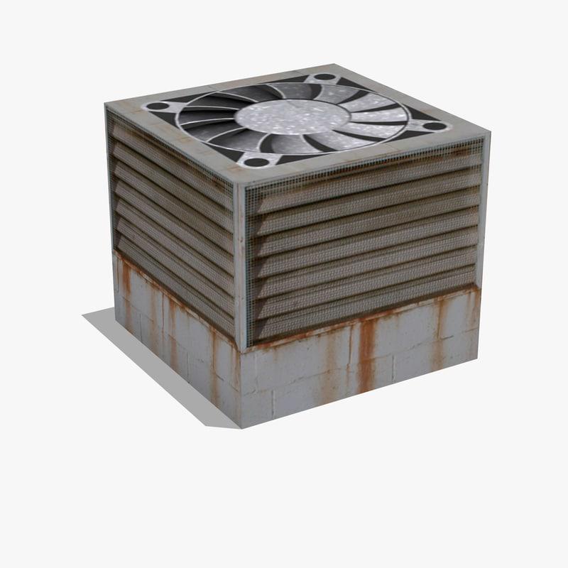 3d air conditioning unit ac model