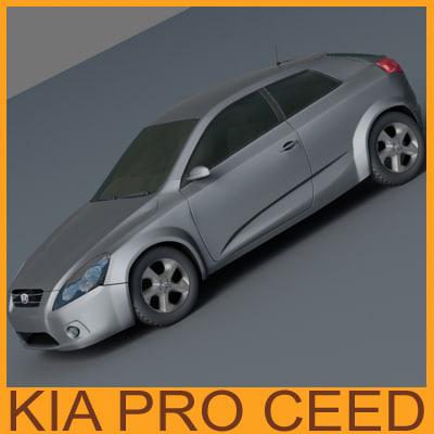 new kia pro ceed 3d max