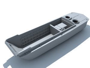 lcvp higgins boat 3d model