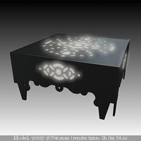 lighted metal table black.max
