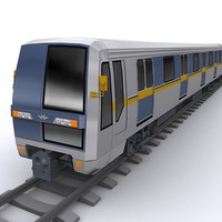 3d model subway train