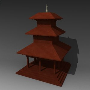 3d obj tibetian building
