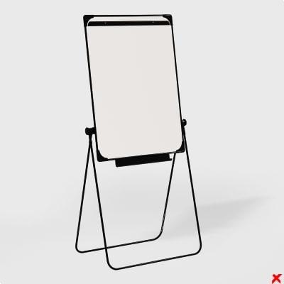 3d model whiteboard board