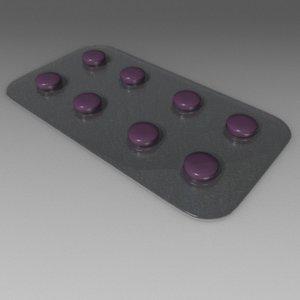 3d pill plate
