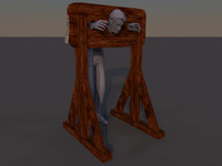 3d pillory stocks