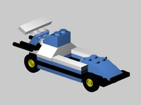 3d model lego race car
