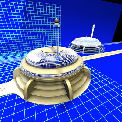 radius parking lot 0172 3d model