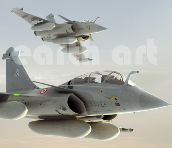 rafale french fighter aircraft 3d model