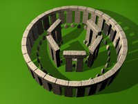 3d model stonehenge stone modeled