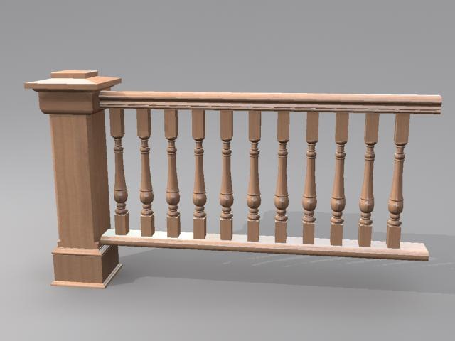 3d traditional wooden wood