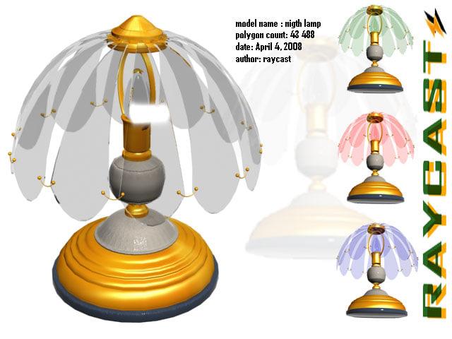 3d model nigth desk lamp