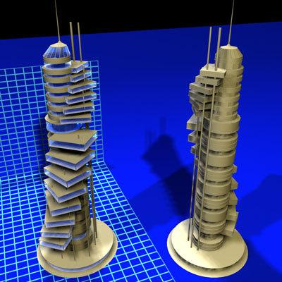 3d model of spindeck tower 112707 01