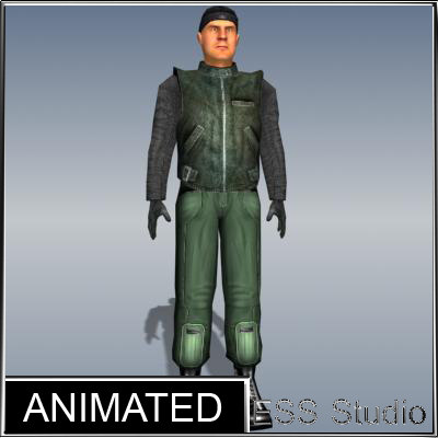 polygonal thief animation max
