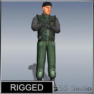 polygonal thief rigged max