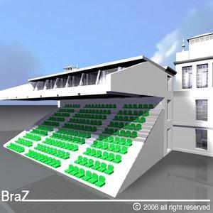 3d 3ds arenas tribune