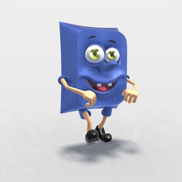 3d model sponge bob cartoon character