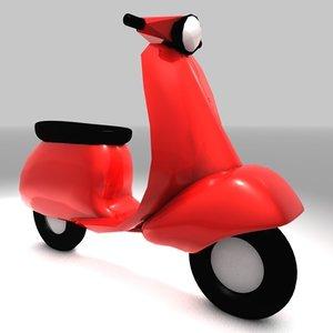 3d vespa scooter