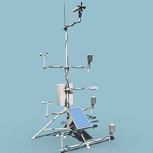 automatic weather station 3d model