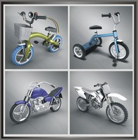 3ds max 14 bikes modeled