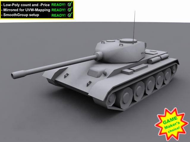 3d t-44 tank model