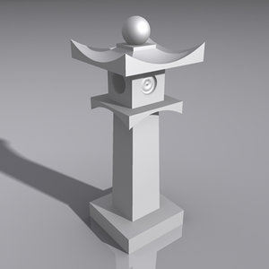 3ds max lantern light lamp
