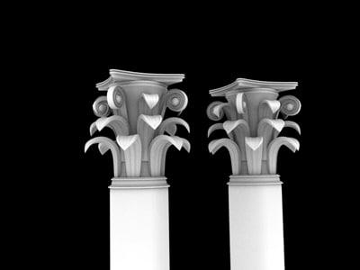 3d model greek column
