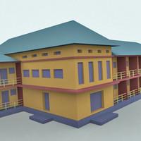 3d model hotel building house