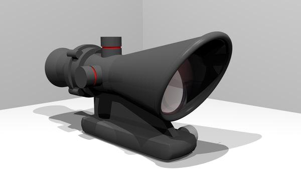 3d acog scope rifles model