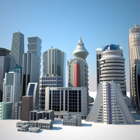 buildings skyscrapers collections 3d model