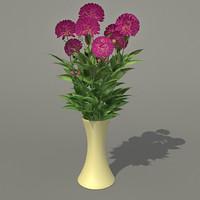 Bouquet Dahlia 3ds