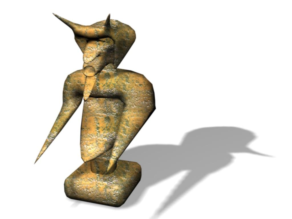 bronze statue devil max free