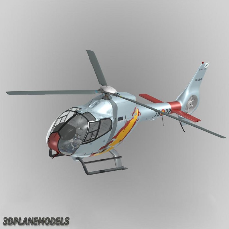 3d eurocopter ec-120b spain air force model