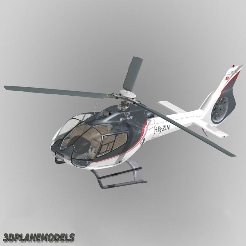 eurocopter ec-130 heli alps 3d 3ds
