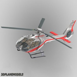 3d model eurocopter ec-130 heli air