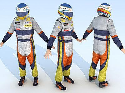 f1 driver 3d model