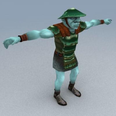goblin warrior 3d 3ds