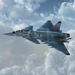 mig 412 fighter 3d obj