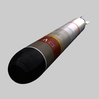 eurotorp - mu90 torpedo 3d model