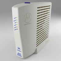 cable modem 3d model