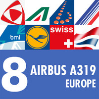 A319 Collection. Eight European Airlines