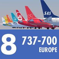 3d jet airliner european model