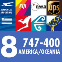 3d 747-400 airliner american oceania model
