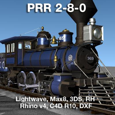 prr 2-8-0 locomotives steam 3ds