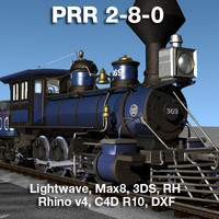 PRR 2-8-0 Steam Locomotive and Tender