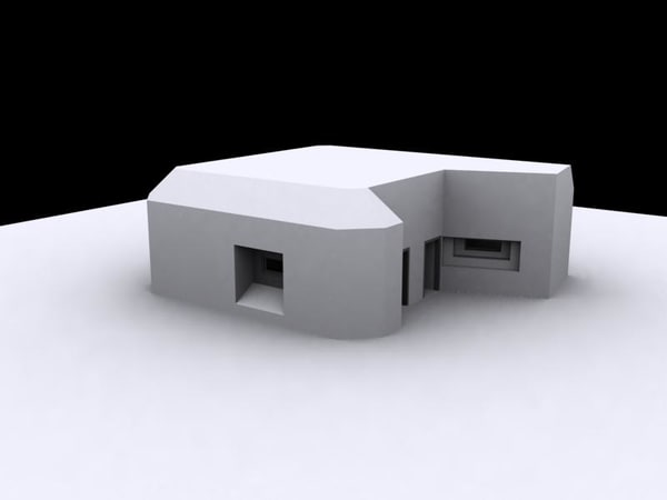 3d german bunker model