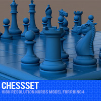 3d model rhino chess set