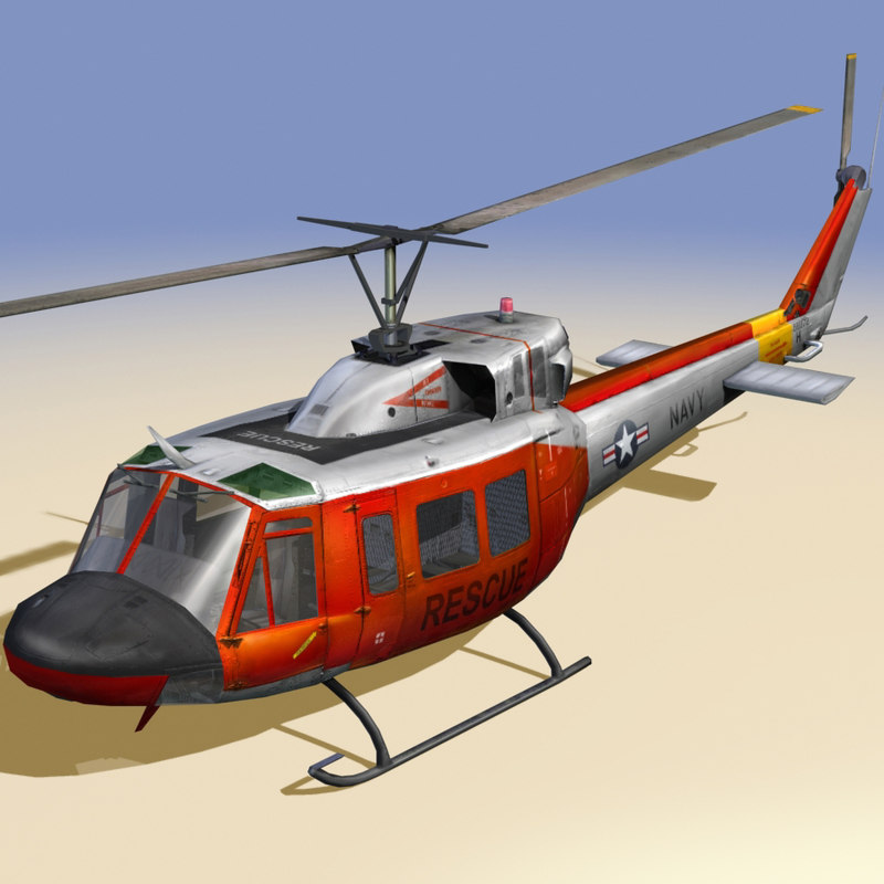 rescue helicopter navy 3d model